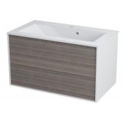 KROMA umyvadlová skříňka 79x45x45cm, bílá/mali wenge (KR081) SAPHO