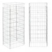 [pro.tec]® Gabion - kőkosár kerti bárpulthoz, asztalhoz 115 x 43,2 x 33,6 cm kőbox kerítés horganyzott drót