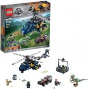 Lego jurassic world inseguimento sull'elicottero di blue