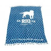 CA-RIO-CA Logo Cangas De Praia Sarong Pareo Brazilian Beach Towel Blue CRC-C102002