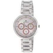 Titan Quartz Pink Dial Women Watch-2480SM05