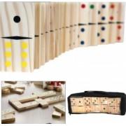 Joc Domino 28 piese piese lemn mari 10 x 5 x 1.5 cm