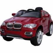 Masinuta electrica BMW X6 Red cu roti din cauciuc