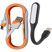 Sunshopping LED light and Data cable combo pack (Assorted colours)
