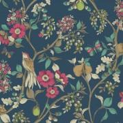 Tapet Floral Damsen Albastru - Holden