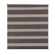 vidaXL Zebra Blind 50 x 100 cm Coffee
