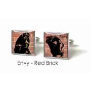 Tyler & Tyler Stencilart 7 Deadly Sins Red Brick Cufflinks Envy
