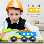 Fun DIY Truck Building Block Set Puzzle Series Toy Multi-Color Toys for Children