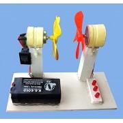 PGSA2Z Working Model On Science Project kit Mini Small DC Motor Wind Generator Micro Wind Turbine Blade Set Project DIY