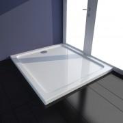 vidaXL Cădiță duș dreptunghiulară ABS 80 x 90 cm Alb