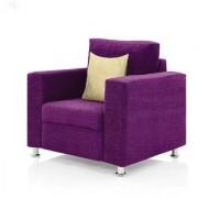 furniture4U - Fully Upholstered Single-Seater Sofa - Classic Valencia Purple