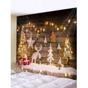 Rosegal Tapisserie Murale Pendante Art Décoration Sapin de Noël et Cadeau Imprimés Largeur 91 x Longueur 71 pouces