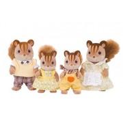 "Epoch Sylvanian Families Sylvanian Family Doll ""Fs 17 Family Of Walnut Squirrel"""