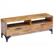 vidaXL TV stolík z mangového dreva, 120 x 35 x 45 cm