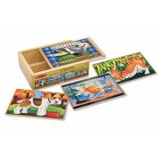 Set 4 puzzle lemn in cutie Animale de companie