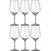 Royal Leerdam 6x Luxe wijnglazen voor witte wijn 370 ml Carre