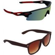Zyaden Combo of 2 Sunglasses Sport and Wayfarer Sunglasses- COMBO 2734