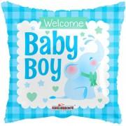 "Fólia lufi, welcome baby boy, 18""/46 cm"