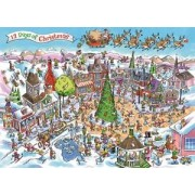 Cobble Hill puzzle 1000 pieces - Doodletown 12 Days of Christmas - till end of stock