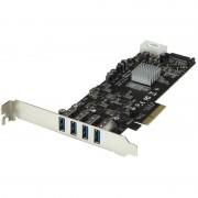 Startech Adaptador Tarjeta PCIe a USB 3.0 4 Puertos
