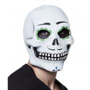 Koponya maszk zöld szemmel