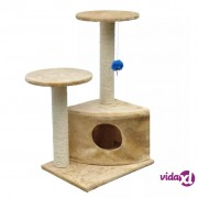 vidaXL Penjalica Grebalica za mačke 70 cm Bež Pliš