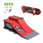 Hunulu Desktop Skate Park Ramp Parts for Tech Deck Fingerboard Finger Board Ultimate Parks New