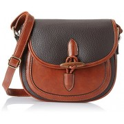 Lino Perros Women's Sling Bag (Dark Brown)