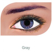 FreshLook Colorblends Power Contact lens Pack Of 2 With Affable Free Lens Case And affable Contact Lens Spoon (-8.00Grey)