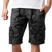 Pantaloni bărbătești scurți URBAN CLASSICS - Camo Cargo - gri camo - TB1612-grey camo