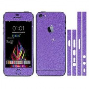 Toeoe Bling Crystal Diamond Screen Protector Film Sticker for iPhone SE 5/5S - Purple