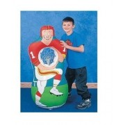 2 x Inflatable Football Player Catch Sports Game 1 Set Toy