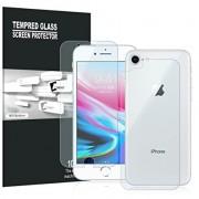 Folie Sticla Set Fata + Spate iPhone 7 si iPhone 8 Protectie Antisoc Tempered Glass