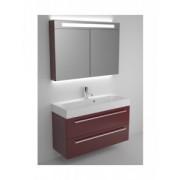 Ansamblu mobilier Riho cu lavoar 100cm gama Slimline, Set 70 Acryl