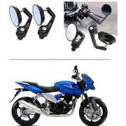 AutoStark 7/8 22cm Motorcycle Rear View Mirrors Handlebar Bar End Mirrors - Bajaj DTS-i