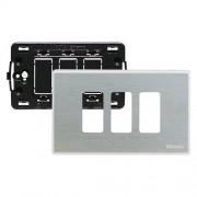 Bticino Supporto E Placca 3 Moduli Per Scatole Rettangolari Magic Argento S503/13Xs