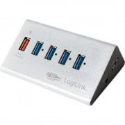 4-portni USB 3.0 hub UA0227 LogiLink srebrna