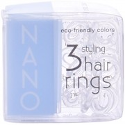 INVISIBOBBLE NANO crystal clear par rings 3 uds