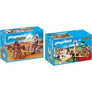 Playmobil History Playset Bundle with Roman Chariot and Gladiator Arena