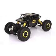 Kajal Toys™ Metal Alloy Body Double Motor 4X4 Remote Control Car 1:16 Scale Rock Crawler Car,X-Large Size, (Yellow)