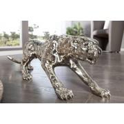 Dekorácia Burke leopard 80cm antická strieborná