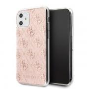 Guess 4G Glitter csillogó mintás iPhone tok (rózsaszín) - 11 Pro