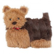 ZippyPaws Squeakie Pup - 11-Squeaker No Stuffing Plush Dog Toy (Yorkie)