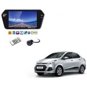 7 Inch Full HD Bluetooth LED Video Monitor Screen with USB Bluetooth + 8 LED Reverse Parking Camera For Hyundai Xcent