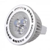 MR16 3W LED lampara foco bombilla luz blanca fria 300lm 3-SMD 3030