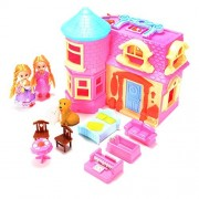 ThinkMax Princess Castle Doll Playset with Light and Music Princess Castle with Princess Figures, Castle, Animals and Furniture