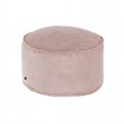 Kave Home Pufe grande Wilma Ø 60 cm bombazine rosa
