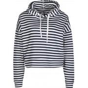 Tommy Jeans Stripe Damen Hoodie weiß blau gestreift Gr. XS