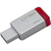 Kingston Metal USB Flash Drive DT50 32 GB Pen Drive(White, Red)