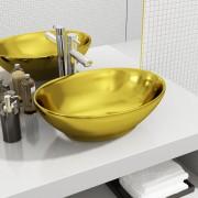 vidaXL aranyszínű kerámia mosdókagyló 40 x 33 x 13,5 cm